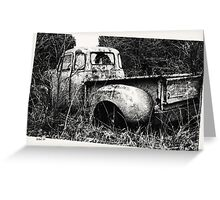 Old Truck in a Field Greeting Card