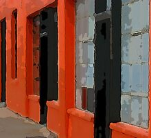 Orange Building by Rick Baber
