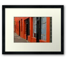 Orange Building Framed Print