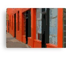 Orange Building Canvas Print