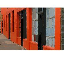 Orange Building Photographic Print