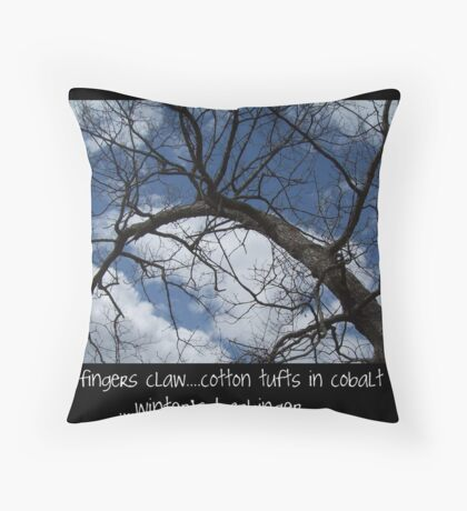 Winter Haiku Throw Pillow