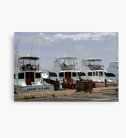Oregon Inlet Boats Canvas Print