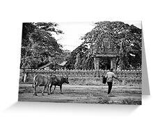 Cambodge - Wat Nokor Greeting Card