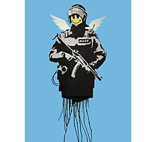 Flying Copper - Banksy street art Photographic Print