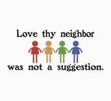 Love thy neighbor funny nerd by jekonu