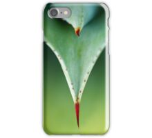 Aloe thorn and leaf macro iPhone Case/Skin