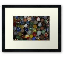 Uncle Jeff's Marbles Framed Print