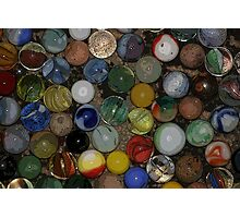 Uncle Jeff's Marbles Photographic Print