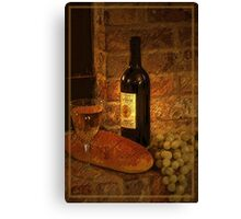 White Wine 2 Canvas Print