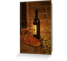 White Wine 2 Greeting Card