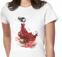 Laru and the dress of flowers Womens Fitted T-Shirt