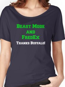 Beast Mode and FredEx Women's Relaxed Fit T-Shirt