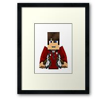 Minecraft Character Framed Print