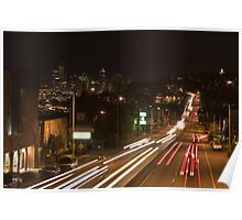 Night Traffic Poster