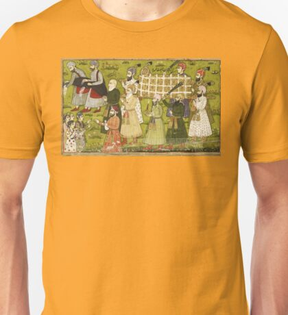 Beautiful Medieval colourful Indian illustration Unisex T-Shirt