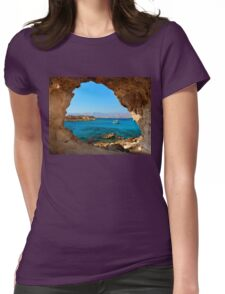 Window to the Libyan Sea Womens Fitted T-Shirt