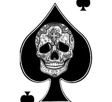 Ace of spades Sugar skull Tattoo graphic art by GinjaNinja1801