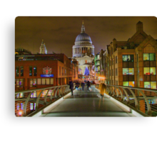 The Bridge To Saint Paul`s - HDR Canvas Print