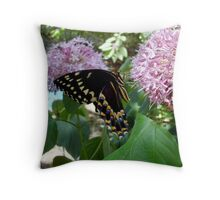 Giant Swallowtail Butterfly in profile Throw Pillow