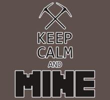 Minecraft - Keep Calm and Mine Baby Tee