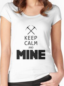 Minecraft - Keep Calm and Mine Women's Fitted Scoop T-Shirt