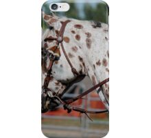 Appaloosa horse. Extreme Cowboy Racing.  iPhone Case/Skin