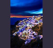 Night falling in Oia, Santorini Unisex T-Shirt
