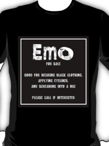 Humour - Emo For Sale T-Shirt