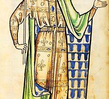 Medieval Edward I king of England illustration by Vintage Designs
