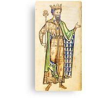 Medieval Edward I king of England illustration Canvas Print