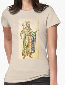 Medieval Edward I king of England illustration Womens Fitted T-Shirt