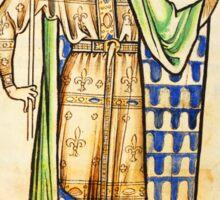 Medieval Edward I king of England illustration Sticker