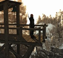 Guarding the High Mountain Pass Sticker