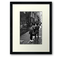 Is it straight? Framed Print
