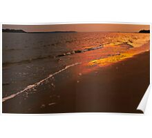 sunset at the beach, Seabrook Island, SC Poster