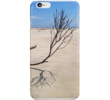 Small Tree on Deserted Beach iPhone Case/Skin