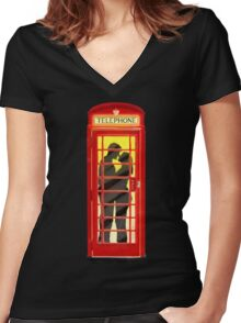 One Romantic Night In London Women's Fitted V-Neck T-Shirt