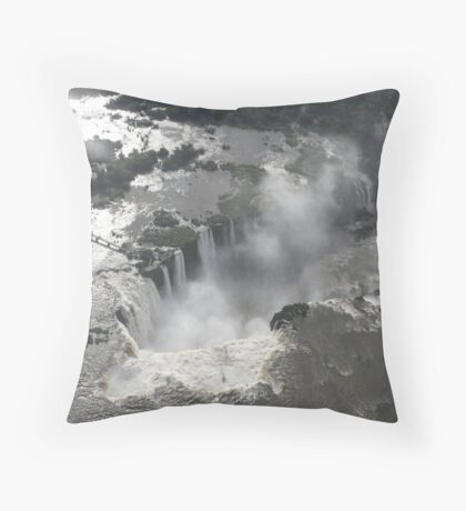 Aerial view of Iguazu Falls, Brazil Throw Pillow
