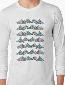 Geo Mountains Long Sleeve T-Shirt