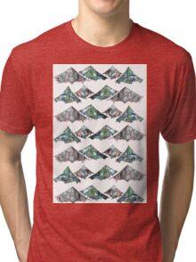 Geo Mountains Tri-blend T-Shirt