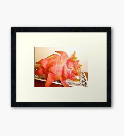 Pi PI Pitaya-  DRAGON FRUIT Framed Print