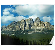 Castle Mountain-Canadian Rockies Poster