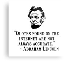 Lincoln Internet Metal Print