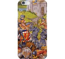 English vs French Medieval Battle Mural iPhone Case/Skin