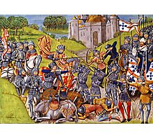 English vs French Medieval Battle Mural Photographic Print