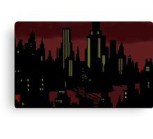 Batman The Animated Series Gotham City Canvas Print