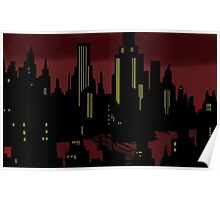 Batman The Animated Series Gotham City Poster