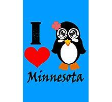 Minnesota penguin i love minnesota geek funny nerd Photographic Print