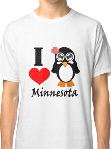 Minnesota penguin i love minnesota geek funny nerd Classic T-Shirt
